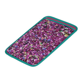 Girly Magenta Pink Faux Sequins Sleeve For MacBook Air