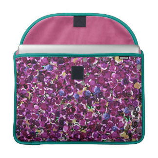 Girly Magenta Pink Faux Sequins Sleeve For MacBook Pro