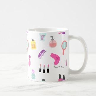 Girly Makeup, Beauty, Grooming Pattern Coffee Mug