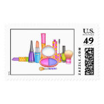 Girly Makeup Whimsical and Fun Postage Stamps