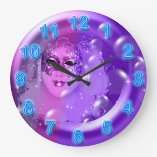 Girly masquerade fantasy stars clocks