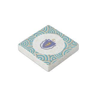 Girly Massachusettsan Flag Gift Stone Magnet