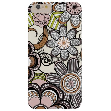 Beach Themed Girly Mehndi Floral Design Barely There iPhone 6 Plus Case