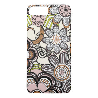 Girly Mehndi Floral Design iPhone 7 Plus Case