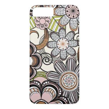 Beach Themed Girly Mehndi Floral Design iPhone 8 Plus/7 Plus Case