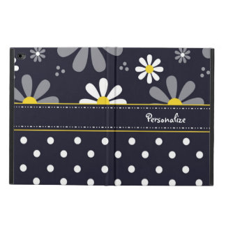 Girly Mod Daisies and Polka Dots With Name Powis iPad Air 2 Case