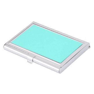 girly modern aqua turquoise chic tiffany blue case for business cards