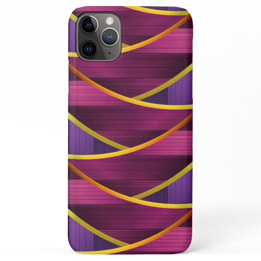 Girly Modern Cascading Metal Pattern iPhone 11 Pro Max Case