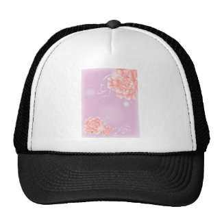girly modern chic purple pink peony flower trucker hat