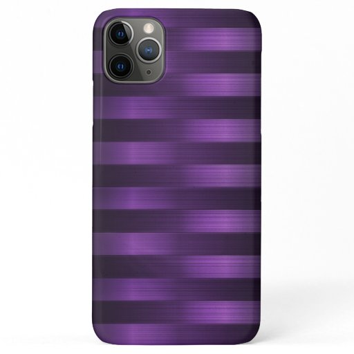 Girly Modern Horizontal Metal Stripes iPhone 11 Pro Max Case