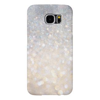 Girly Modern Pink Glitter Print Galaxy 6 Case
