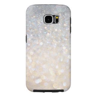 Girly Modern Pink Glitter Print Tough Galaxy S6 Samsung Galaxy S6 Case