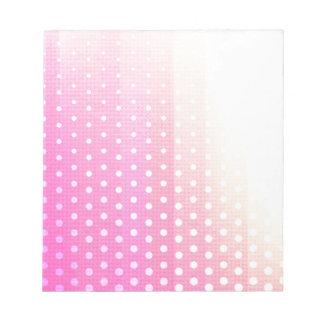 Girly modern pink yellow white polka dots twill memo notepad