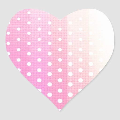 Girly modern pink yellow white polka dots twill sticker