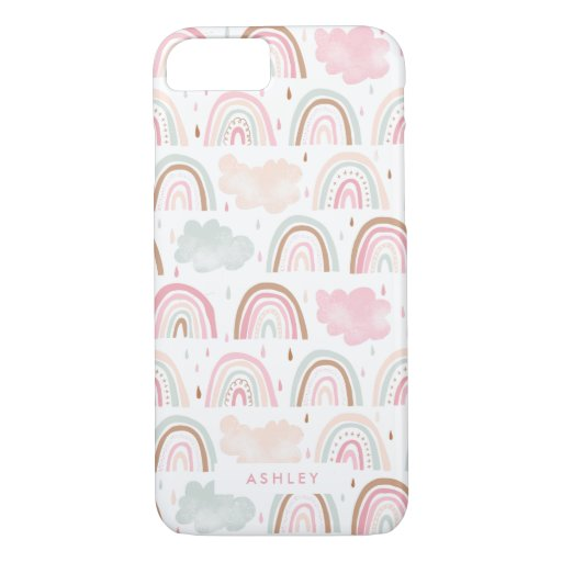 Girly Modern Rainbow Pattern iPhone 8/7 Case