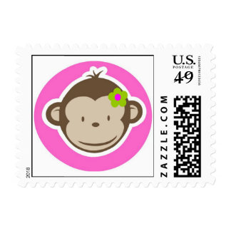 Girly Monkey Stamp