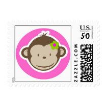 Girly Monkey Stamp