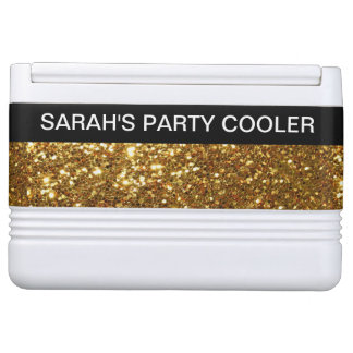 Girly Monogram Glitzy Party Cooler