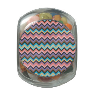 Girly Multicolor Chevron Pattern Jelly Belly Candy Jars