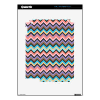 Girly Multicolor Chevron Pattern Skins For iPad 2