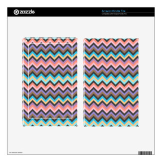 Girly Multicolor Chevron Pattern Skins For Kindle Fire