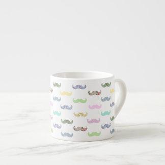 Girly mustache pattern espresso cup