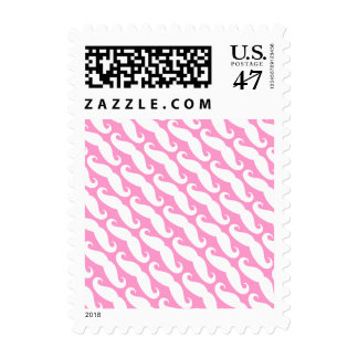 Girly mustache print stamps | Pink