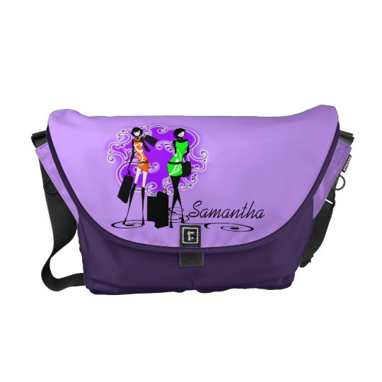 Girly name fashion models trendy courier bag