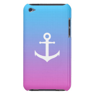 Girly nautical anchor gradient iPod touch Case-Mate case