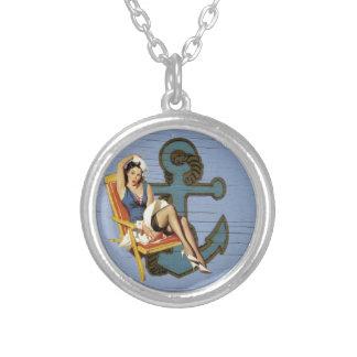 Girly nautical anchor pin up sailor beach fashion necklaces