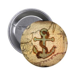 Girly nautical anchor vintage beach pin