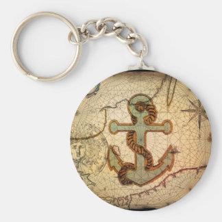 Girly nautical anchor vintage beach keychains