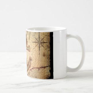 Girly nautical anchor vintage beach coffee mugs