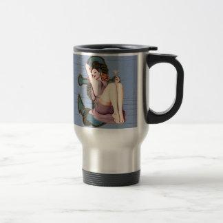 Girly nautical anchor vintage beach coffee mug