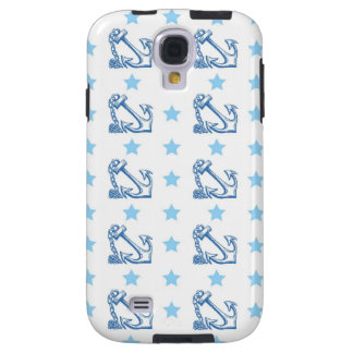 Girly nautical anchors retro vintage stars pattern galaxy s4 case