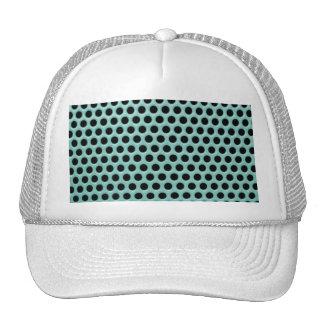 Girly Neon Green Black Polka Dots Pattern Mesh Hat