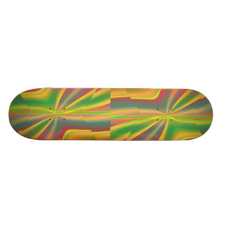 girly neon green lime abstract art fashion skateboard deck