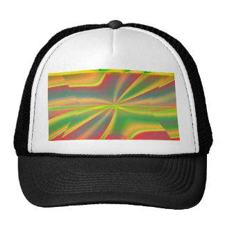 girly neon green lime abstract art fashion trucker hat