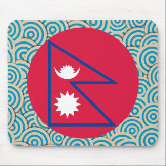 Girly Nepalese Flag Gift Mouse Pad