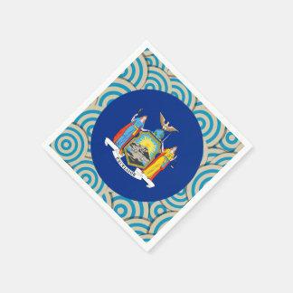 Girly New Yorker Flag Gift Standard Cocktail Napkin