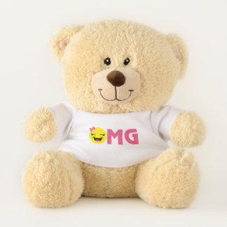 Girly OMG Emoji Teddy Bear