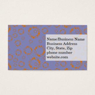 girly orange blue circle squares pattern dizzy art business card