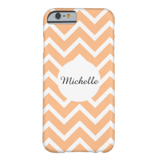 Girly orange peach white chevron pattern barely there iPhone 6 case