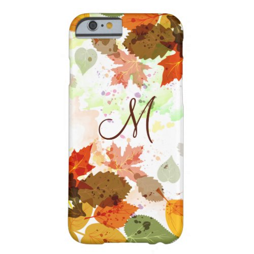 Girly Orange Yellow Green Autumn Leaves Phone Case