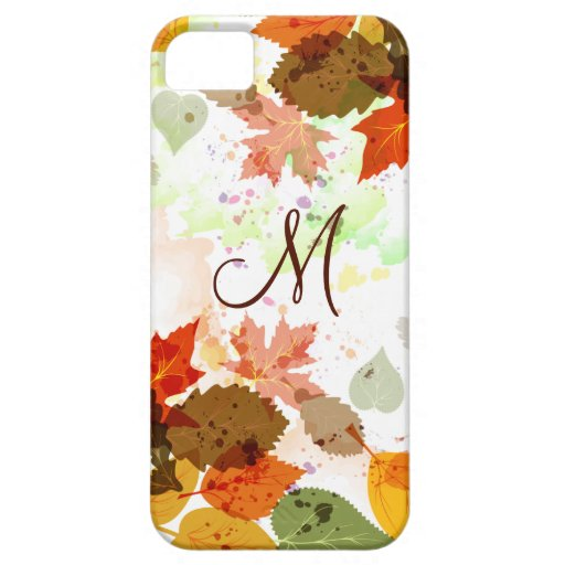 Girly Orange Yellow Green Autumn Leaves iPhone5 iPhone SE/5/5s Case