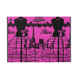 Girly Paris in Hot Pink Case For iPad Mini