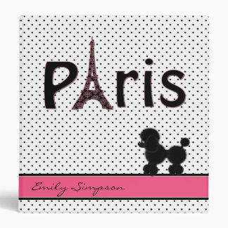 Girly Paris Theme Custom Binder