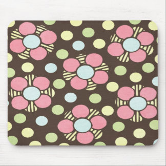 Girly Pastel Floral Art Mouse Pad