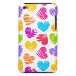 Girly pastel love hearts pattern barely there iPod case
