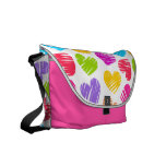 Girly pastel love hearts pattern courier bags